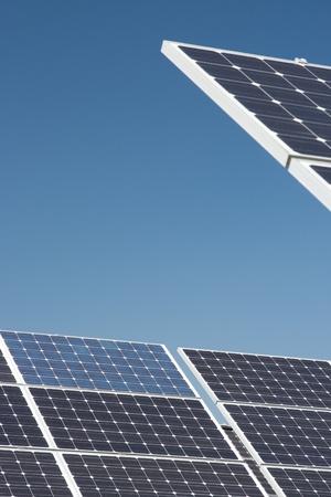 nonpolluting: Solar cells - alternative energy Stock Photo