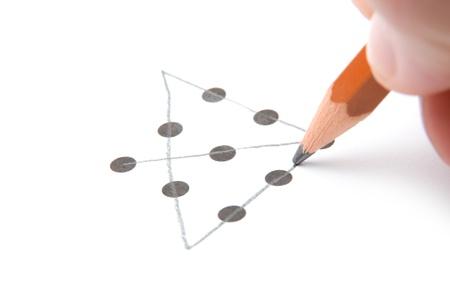 pensamiento creativo: Piense fuera de la caja de concepto - la prueba del pensamiento innovador y creativo