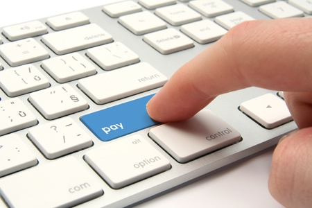 Keyboard with button pay - payment concept photo