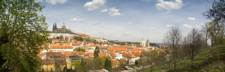 Panoramic view on Prague from unique place (historic center)