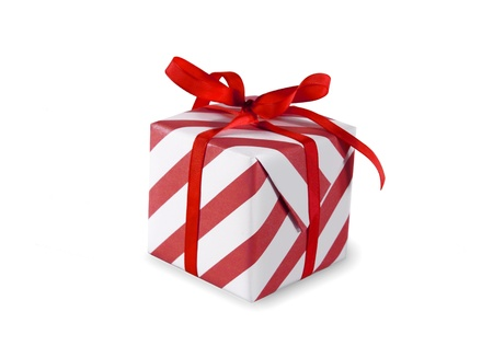Present (gift, giveaway) on white background Stock Photo - 11943918