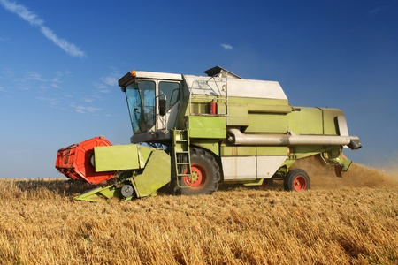 Agriculture - Combine (harvester) on the field