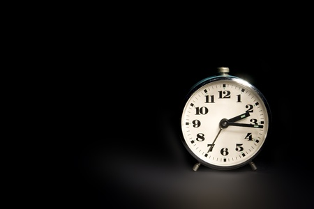 can't: Cant asleep (white night) - alarm-clock in dark Stock Photo