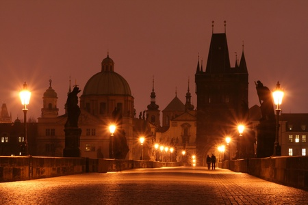 Charles Bridge in Early Morning photo