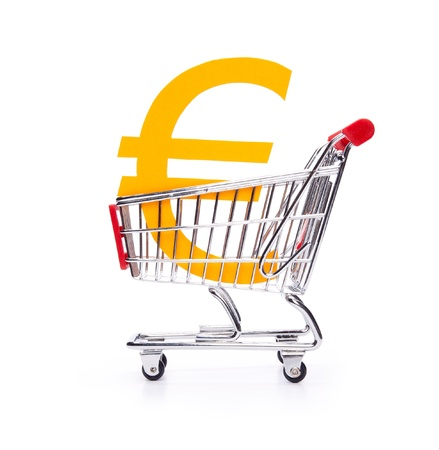 white interest rate: Financial concepts  buy  exchange  Euro currency, Consumer price index  CPI , consumption tax, interest rate, inflation  Stock Photo