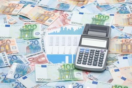 flujo de dinero: Calculadora, dinero, gr�ficos y hojas - negocio de la construcci�n de flujos de efectivo concepto de gesti�n