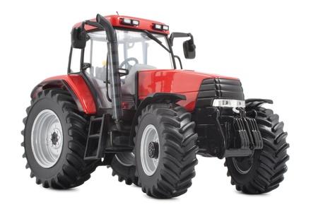 Tractor studio shot on white background