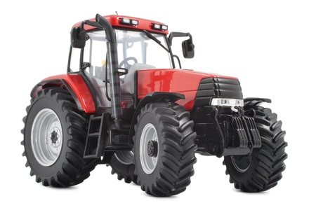 agribusiness: Tractor studio shot on white background