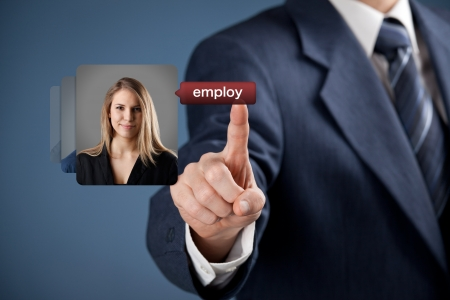 employ: Human resources officer realize gender equality by choosing woman employee  Gender equality quotes concept