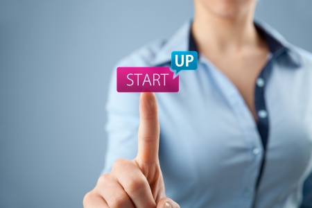 Woman start her startup business. Female investor accelerate start-up project concept. Stock Photo