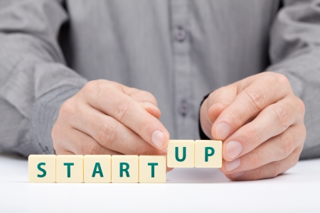 Businessman complete his startup business  Investor accelerate start-up project concept