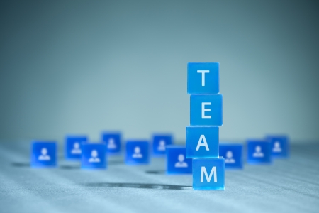 Human resources, team composition, team configuration, teamwork, cooperation and team building concepts.  photo