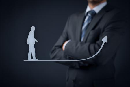 superacion personal: El desarrollo personal (crecimiento personal), el �xito, el progreso y los conceptos posibles. Coach (oficial de recursos humanos, supervisor) en el fondo de supervisar el crecimiento de negocios.