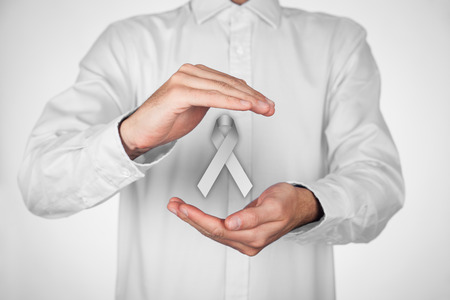 brain cancer: Gray (silver) ribbon, symbol for awarenesses: asthma, schizophrenia, stalking, brain cancer, Parkinsons Disease; diabetes and brain disorders and disabilities.