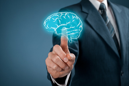 intellectual property: Select creativity for your business, business vision and headhunter concepts.