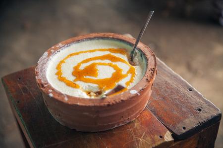 sri lankan: Curd, buffalo yoghurt with honey; - typical Sri Lankan (Ceylon) product.