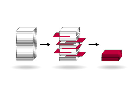 Data mining (dataminig) process and big data analysis (bigdata) issue scheme. Illustration