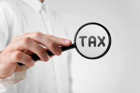 financial officer: Financial officer focused on tax. Tax optimization concept.