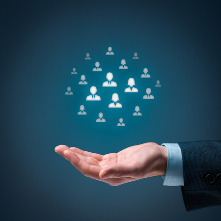 Marketing customer target audience concept. 스톡 콘텐츠