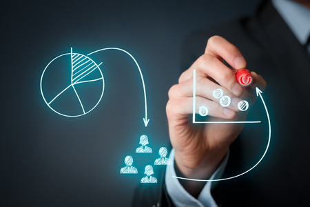 mercadotecnia: Posicionamiento de marketing y estrategia de marketing - segmentación, focalización y posicionamiento. Visualización de posicionamiento de marketing marketing.