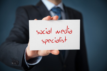 favoritism: Human resources officer (headhunter, personnel) looking for a social media specialist.