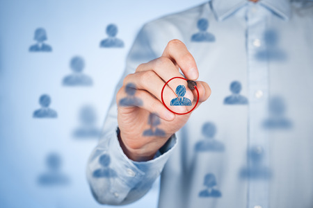 targeting: Marketing segmentation and targeting, personalization, individual customer care (service), customer relationship management (CRM) and leader concepts.