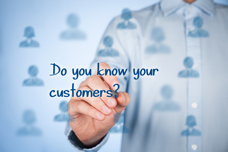 blue you: Do you know your customers? Typical marketing question.