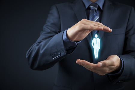 인적 자원 장교는 군중의 서 직원을 선택합니다. 선택 팀 지도자 개념. 개념을 대상으로 마케팅 고객.