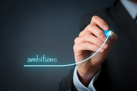 personal development: Growing ambitions and personal development concept. Stock Photo