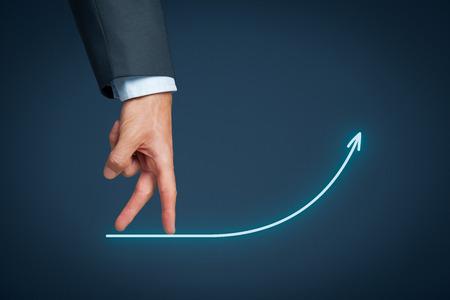 Développement personnel, la croissance personnelle et la carrière, le succès, le progrès, la motivation et concepts potentiels. Banque d'images
