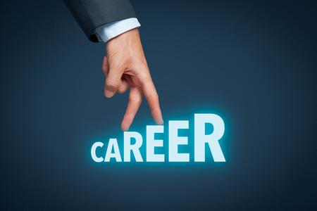Carrière, le développement personnel, la croissance personnelle et la carrière, le succès, le progrès, la motivation et concepts potentiels.