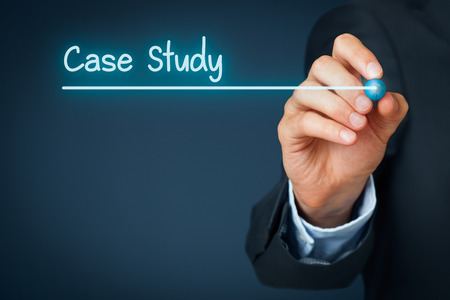 show case: Case study heading - background template for business presentation. Stock Photo