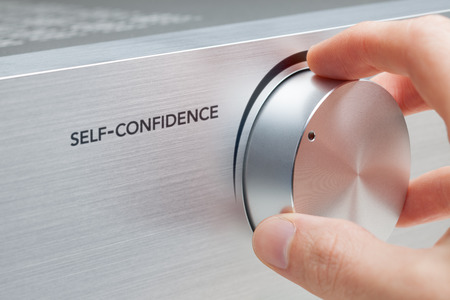 growth: Self-confidence improvement concept.  Stock Photo
