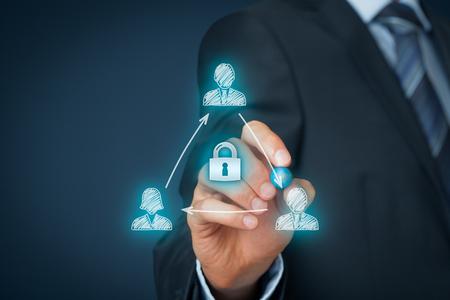 Acuerdo de no divulgación (NDA) concepto de negocio. acuerdo de confidencialidad (CA), el acuerdo de declaración confidencial (CDA), el acuerdo de información de propiedad (PIA), o acuerdo de confidencialidad (SA).