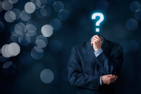 interrogative: Do you have a question? Business is full of questions concept.
