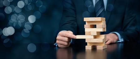 Metapher der Business-Lösung, Unterstützung, Coaching, Versicherung, Innovation und anderen helfen, Business-Themen. Große Banner Komposition mit Bokeh Hintergrund.