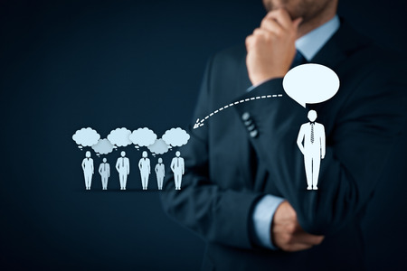 Influencer, Meinungsführer, Teamleiter, Geschäftsführer und andere Unternehmen führende Konzepte. Opinion Leader (zB Politiker) hat die Macht zu beeinflussen Meinung Masse von Menschen vor allem Kunden.