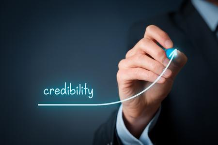 credibility: Corporate credibility improvement concept.