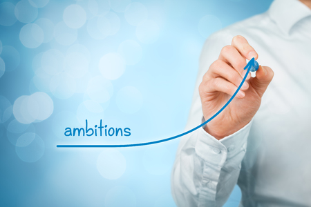 ambitions: Growing ambitions and personal development concept. Stock Photo