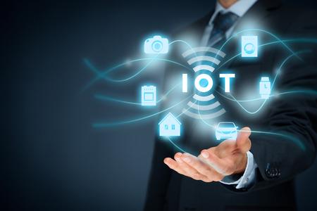 Het internet van de dingen (ivd) concept. Stockfoto