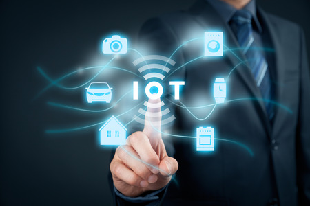 the internet: Internet of things (IoT) concept. Stock Photo