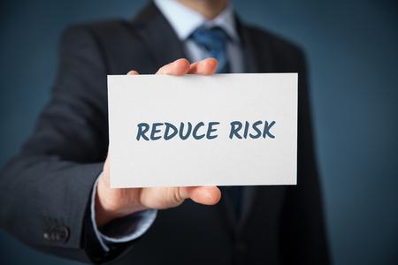 reduce risk: Businessman, investor, coach plan to reduce risk. Risk management concept.