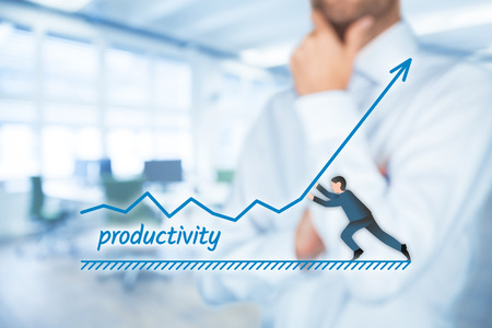 Manager (businessman, coach, leadership) want to increase company productivity.