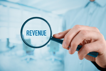cfo: Businessman, manager, CEO, CFO, coach, leader and another successful business person are focused on revenue.  Stock Photo