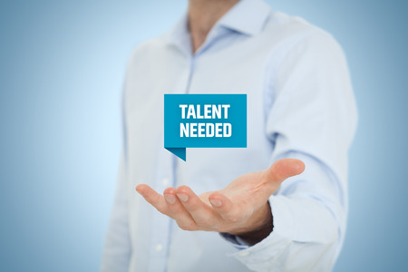 talented: Talent needed - human resources concept. Recruiter search talented employees.