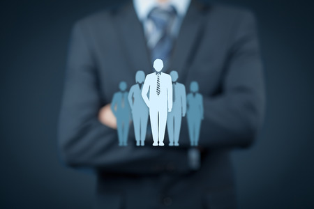 influencer: Opinion leader, team leader, influencer, CEO, market leader, and another business leading concepts.