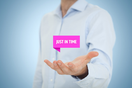 demand: Just in time (JIT) demand (pull) driven inventory system.  Stock Photo