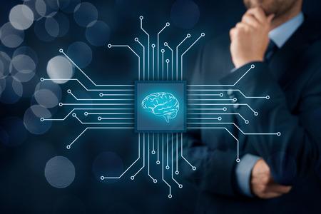 인공 지능 (AI), 데이터 마이닝, 전문가 시스템 소프트웨어, 유전자 프로그래밍, 기계 학습, 신경망, 다른 나노 현대 기술의 개념.