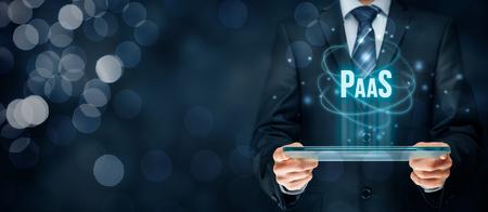 plataforma: Plataforma como servicio (PaaS) - concepto de servicios de cloud computing. Plataforma para clientes ayuda a desarrollar, ejecutar y administrar aplicaciones sin construir y administrar la infraestructura.
