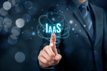 Infrastructure as a Service (IaaS) concept. Modern information technology business model where hardware is provided by an external provider.